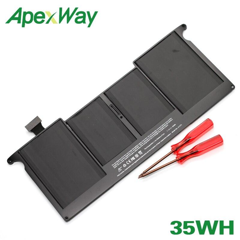 ApexWay pour Apple 7.2V 35Wh batterie d'ordinateur portable A1375 MacBook Air 11