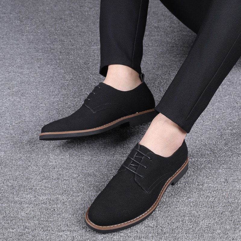 38 48 Cow Suede Boss Mens Formal Shoes