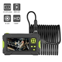 Industrial Endoscope 1080P HD Borescope 8mm Inspection Snake Camera with 4.3 inch Display Screen 8 LED Lights for Car Pipe