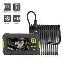 Industrie Endoskop 1080P HD Endoskop 8mm Schlange Inspektion Kamera mit 4,3 zoll Display Screen 8 Led-leuchten für auto Rohr