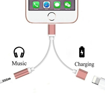 2 in 1 for Apple Lightning Audio Converter 3.5mm Audio headphone jack adapter Play Music for iPhone 7 plus for iPhone 8 plus X 3 in 1 for lightning to 3 5mm audio jack adapter dual for lightning aux earphone jack conveter for iphone x 8 plus 8 7 ios 9 12