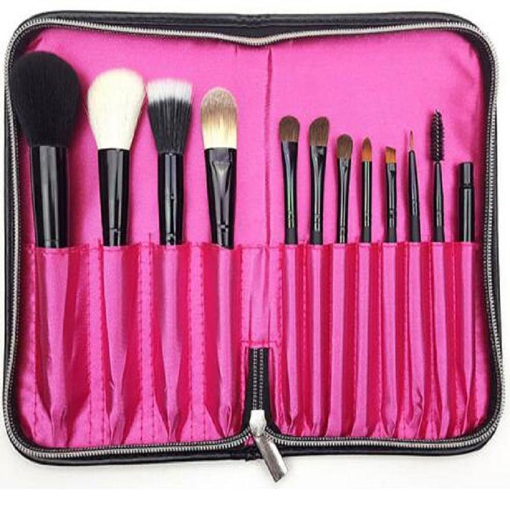 Professional Makeup Brushes Holder Bag Box Beauty Tools PU Leather Cosmetic Brushes Traval Storage Case Organizer Accessories