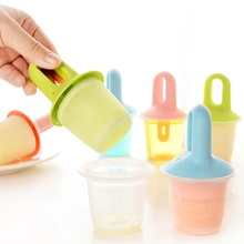 New Homemade Ice Cube Mold Cream With Handle Popsicle Molds Cake Kitchen Tool