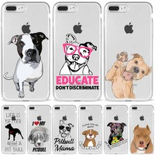 TPU Case Pitbull Silicone iPhone 11 8-Plus 12 6 7 5 Capa Do Dog-Pet XR XSMAX Telefone