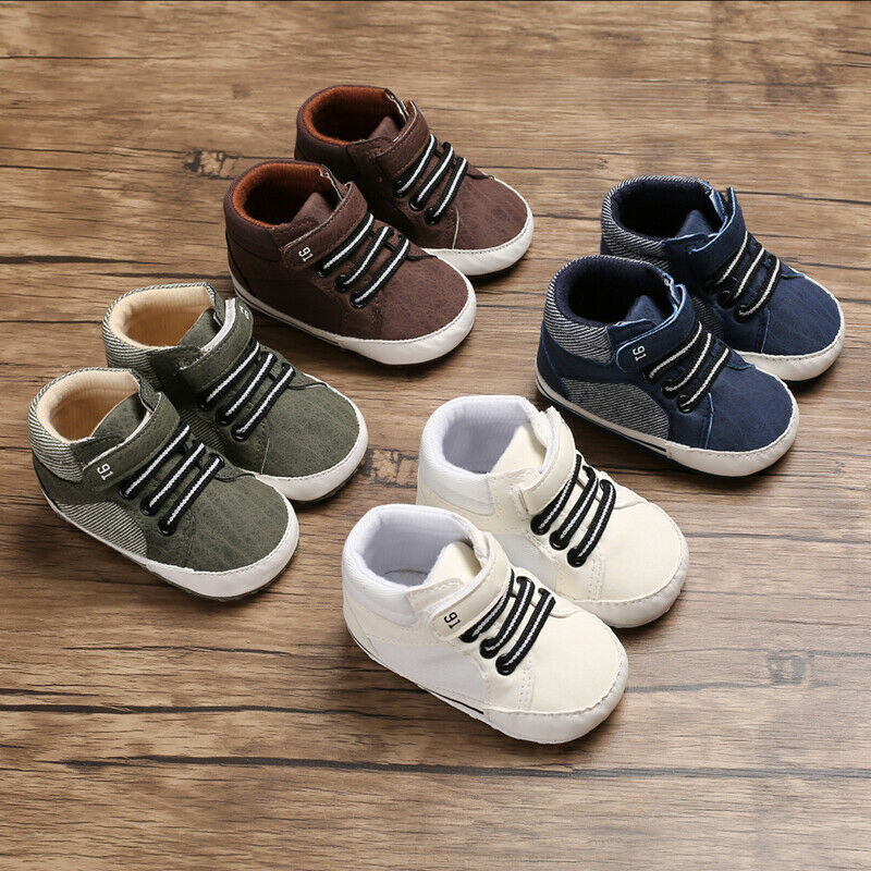 2019 New Fashion Baby Boys Girls Sneakers Leather Sports Crib Soft First Walker Shoes First Walkers For 0-18month