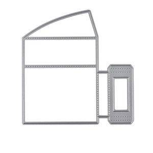 Image 2 - Naifumodo Paper Card Holder Metal Cutting Dies Stitched DIY Scrapbooking Stamps Craft Embossing Die Cut Making Stencil Template