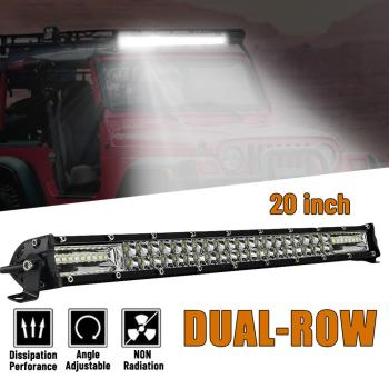 13/20 Inch Ultra Slim Led Light Bar Dual Row Spot Flood Combo Fog Offroad 120w/180w 12v-24v Double