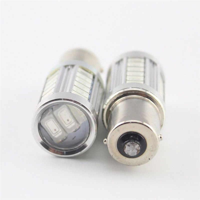 Clignotant de frein de voiture, clignotant 12V 1156PY BAU15S PY21W, LED 33SMD, 4 pièces/1 pièce ampoule LED