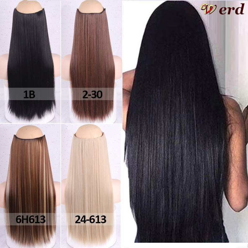 Верд натуральные длинные прямые волосы женские заколки для волос черные коричневые высокотемпературные синтетические волосы для наращива...