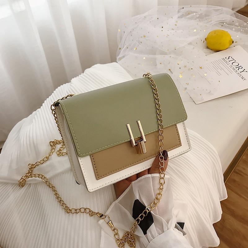 2019 Small Flap Shoulder Bags For Women  Leather Fashion Crossbody Luxury Green Messenger Bag Handbag Ladies Phone Purse Bolsas