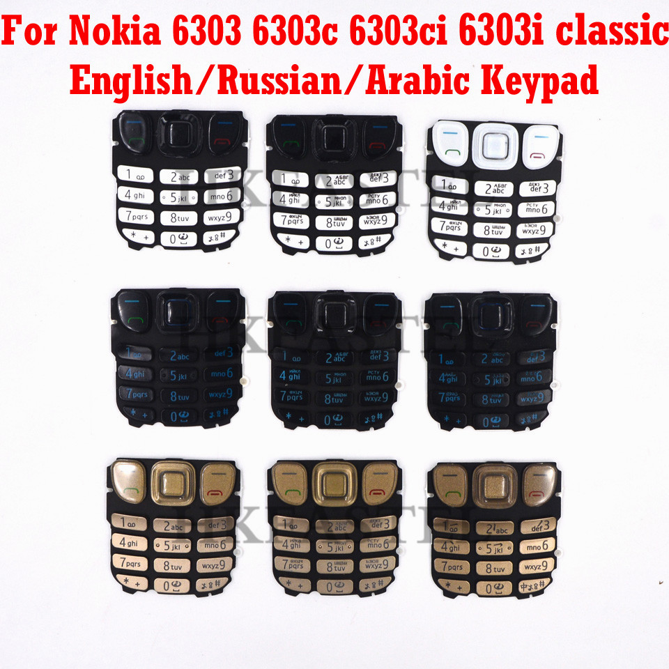 HKFASTEL For Nokia 6303c 6303 Classic 6303ci 6303i Classic Keyboard Brand New Original English / Russian /Arabic/Chinese Keypad