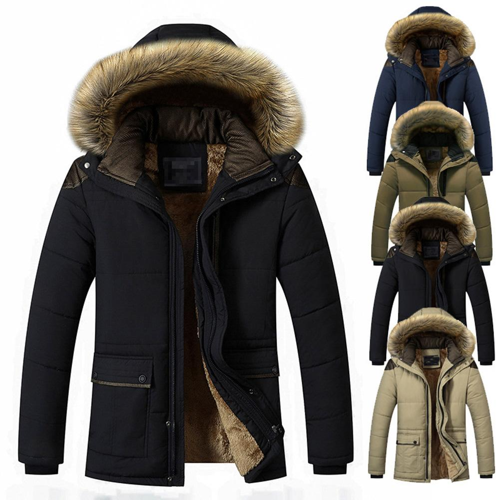 Winter Jacket Parkas Waterproof Fashion Men Casual Warm Man Thick title=
