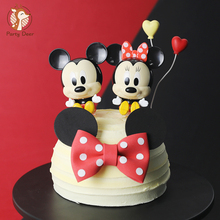 Cake-Topper Balloon Mouse-Decoration Baking-Supplies Gifts Happy-Birthday Heart Baby Party