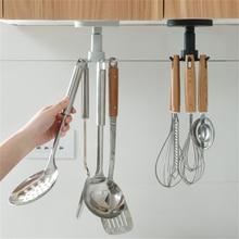 360 ° искусственная креативная кухонная подвесная посуда 6 крючков
