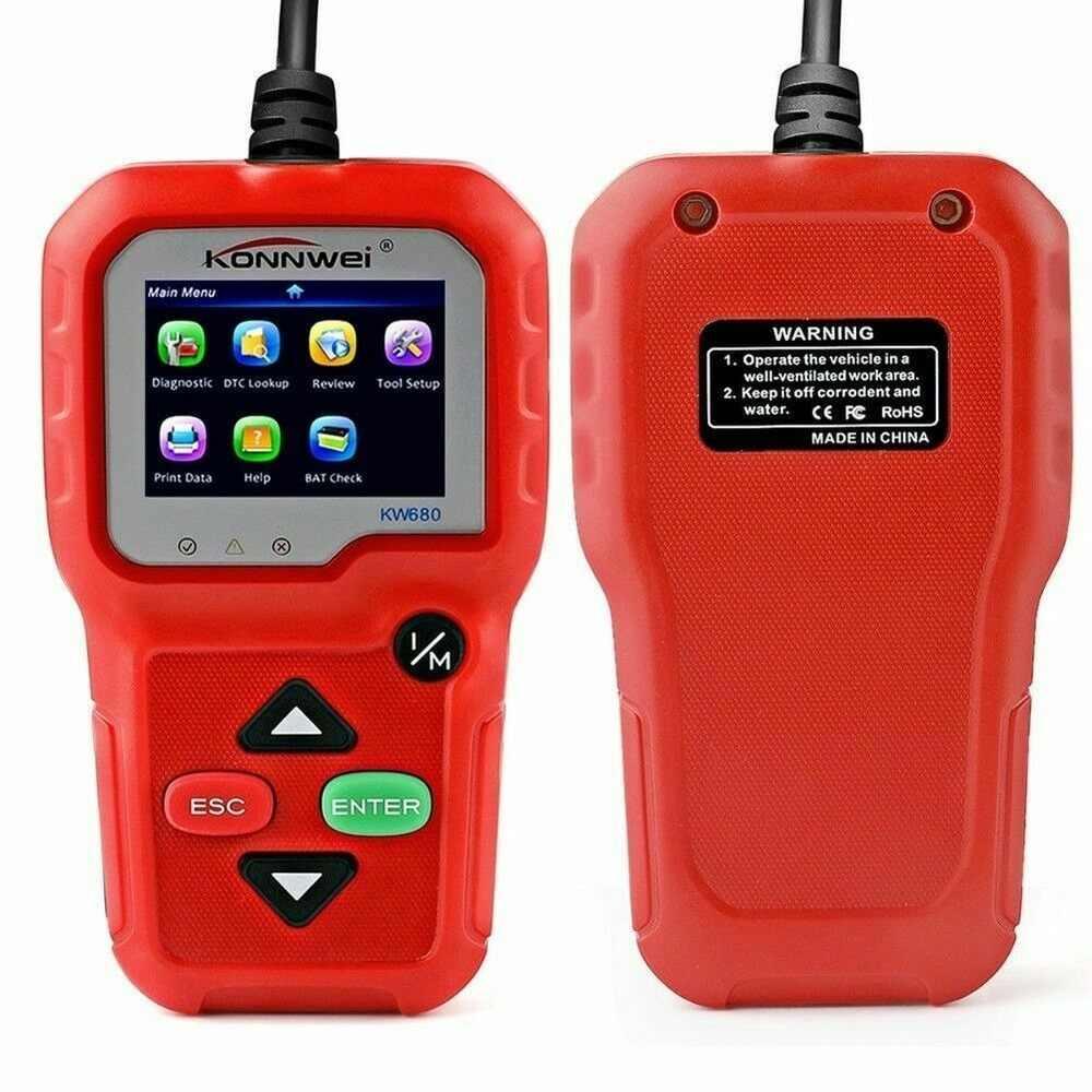 KW680 OBD2 CAN araba motor arıza kodu okuyucu-Autoscanner çok languageScan aracı