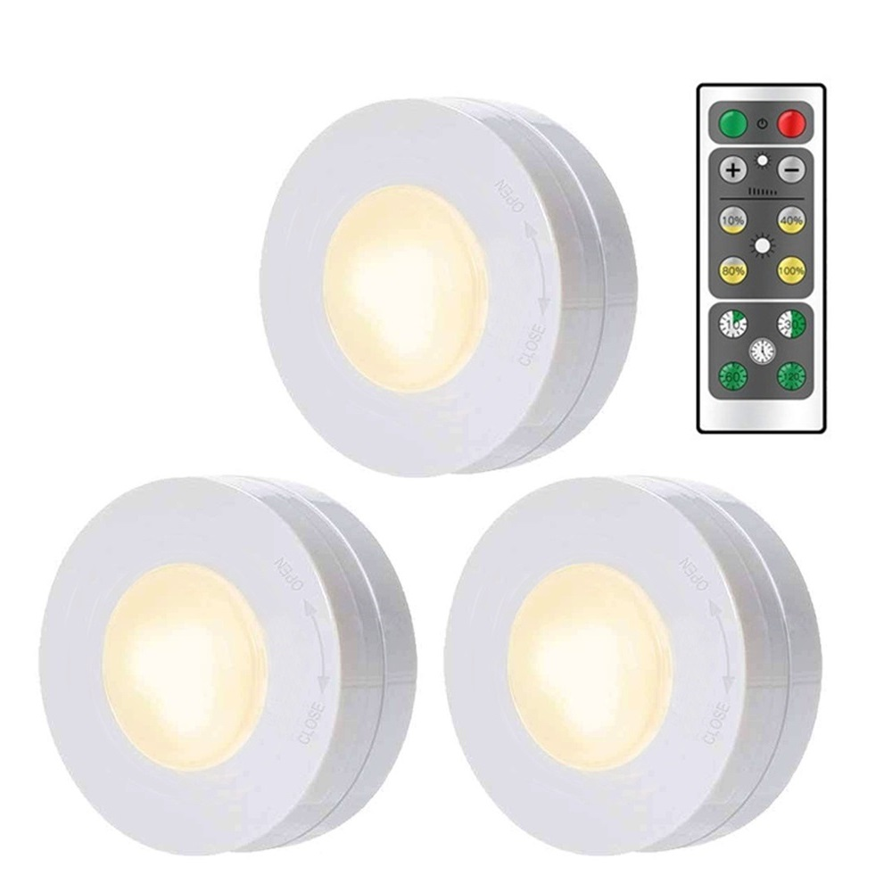 Wireless LED Lamp Night Light Closet Decorative Light With Remote Control Dimmer Timer For Display Cabinet Hallway Nightlight