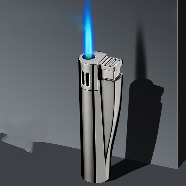 2020 New Cigar Cigarettes Accessories Smoking Lighters Gas Lighter Jet Torch Turbo Lighters Metal Electronic Blue Flame 1300C