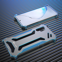Zinc Aluminum Alloy Contrasting Colors Metal Case For Samsung Galaxy Note 10 10+ Plus Hard Cover Heat Dissipation Hollow Korean