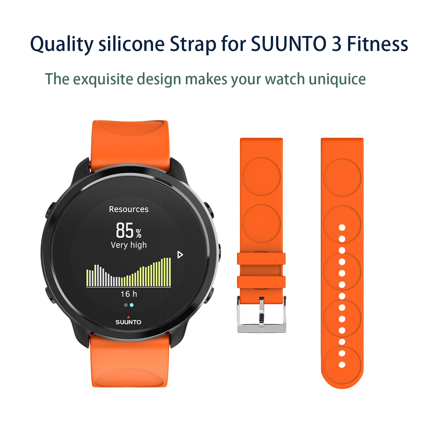 Soft Silicone Watch Band Strap For Suunto 3 Fitness Silicone Bracelet Replacement Wristbands For Suunto 3 Fitness Smart Watches