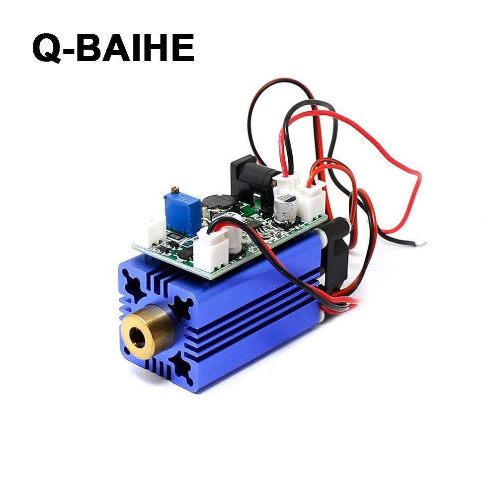 405nm 150mW 200mW 300mW Violet/Purple Laser Dot Module 12V+ TTL+ Fan Cooling- Working Long