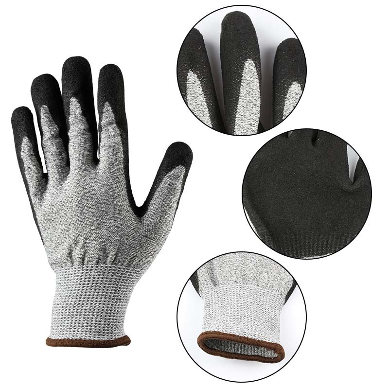 Dipped Work Gloves, Comfortable Non-slip Wear-resistant Welding Gloves
