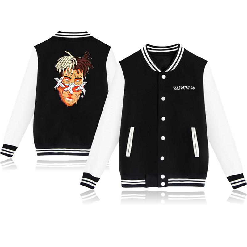Xxxtentacion Varsity Jacket for Boys Girls Baseball Jacket Cotton Letterman Jacket