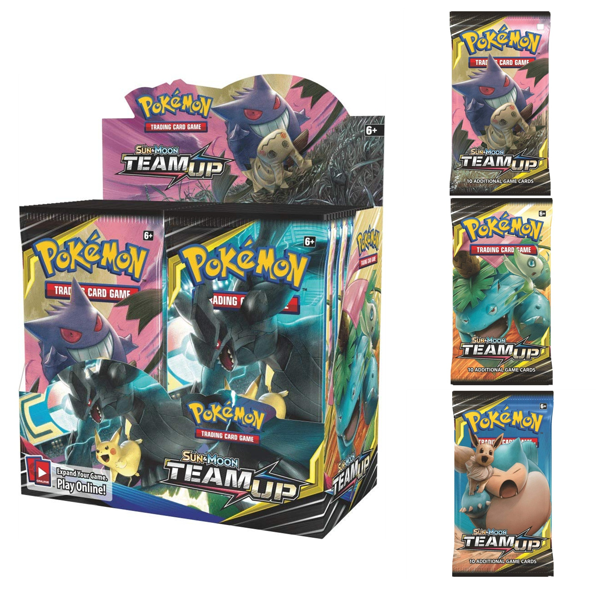 324 Cards Pokemon TCG: Sun & Moon Team Up Collectible Trading Card Set High quality card Toy collection image