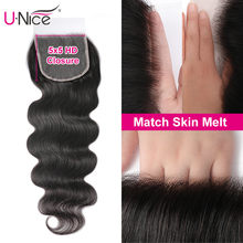 Perruque Lace Closure wig Body Wave brésilienne – Unice Hair, cheveux vierges, 5x5 HD, 100% cheveux humains, Lace Closure, nœuds invisibles, peau M