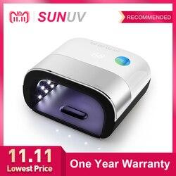 SUNUV УФ-лампа SUN3 с набором инструментов для нейл-арта 48 Вт умная сушилка для UVLED для отверждения гель-лака для ногтей для самостоятельного про...