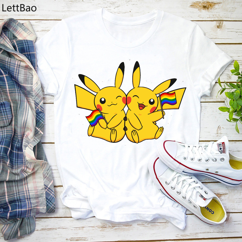 font-b-pokemon-b-font-pikachu-t-shirt-women-men-couple-t-shirt-best-friends-tshirt-femme-fashion-summer-tops-casual-tees-anime-cartoon-print