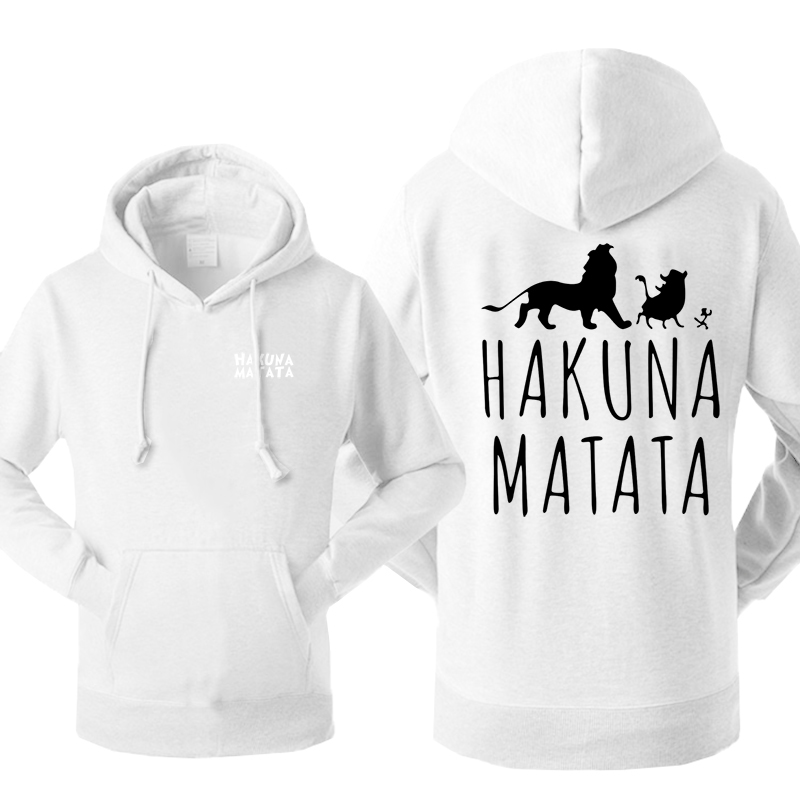 The Lion King Men's Hoodies Sweatshirt Hakuna Matata Tracksuit Fleece Cartoon PUMBAA Hooded Streetwear Sportswear Warm Pullover