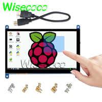 Monitor portátil de 7 pulgadas, pantalla táctil capacitiva LCD para PS4/Raspberry Pi 4 3B +/ PC/Banana Pi, 1024x600