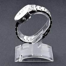 Clear Plastic Jewelry Bangle Cuff Bracelet Watch Display Stand Holder Rack(China)