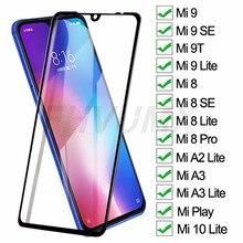 Защитное стекло 15D для Xiaomi Play Mi 9 10 Lite, закаленное защитное стекло для Mi 8, 9 SE, A3, A2 Lite, Mi8 Pro, защитная стеклянная пленка, чехол
