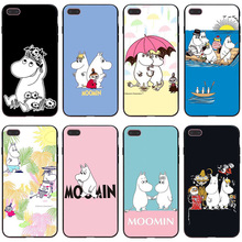 moomin cartoon hippo case for iphone 7 XR black soft Phone cover Cases for iPhone 7 8 6 6S Plus XR X XS MAX 5 5S SE coque black cover japanese samurai for iphone x xr xs max for iphone 8 7 6 6s plus 5s 5 se super bright glossy phone case