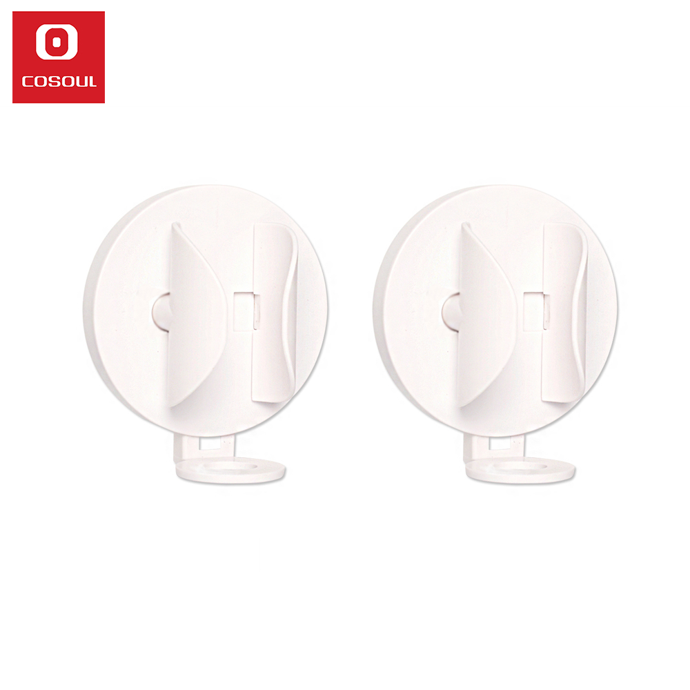 2 Pieces COSOUL Electric Toothbrush Holder Wall Mount Elastic Hold Protect Toothbrush Handle Save Space Keep Dry Stop Mildew