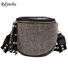 Bolsa Messenger-Bag Crossbody-Bag Wide-Strap Rivet Small Female Casual Women Striped