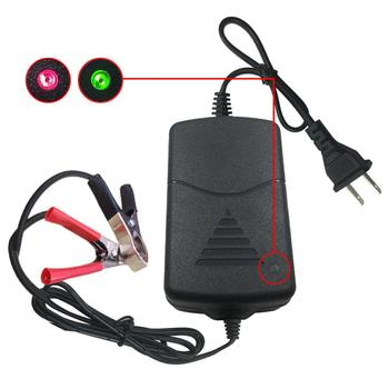 12V 1A EU/US plug Pulse Repair Charger with LCD Display Motorcycle Car Battery Charger 12V AGM GEL WET Lead Acid Battery Charger image