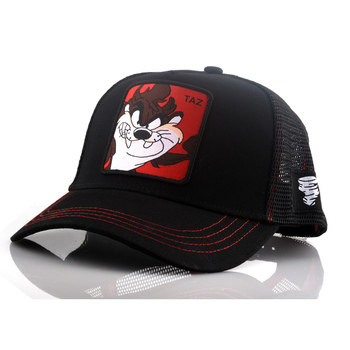 New Brand Anime TAZ BLACK Snapback Cap Cotton Baseball Cap Men Women Hip Hop Dad Mesh Hat Trucker Dropshipping rick and morty new black dad hat crazy rick baseball cap american anime cotton embroidery snapback anime lovers cap men women