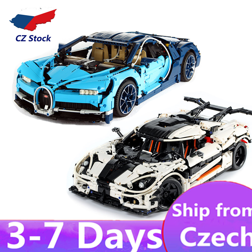 20001 20086 <font><b>23002</b></font> Super Sports Car Speed Champions City MOC Technic Building Blocks Race Car 42056 42083 Bugattis toy image