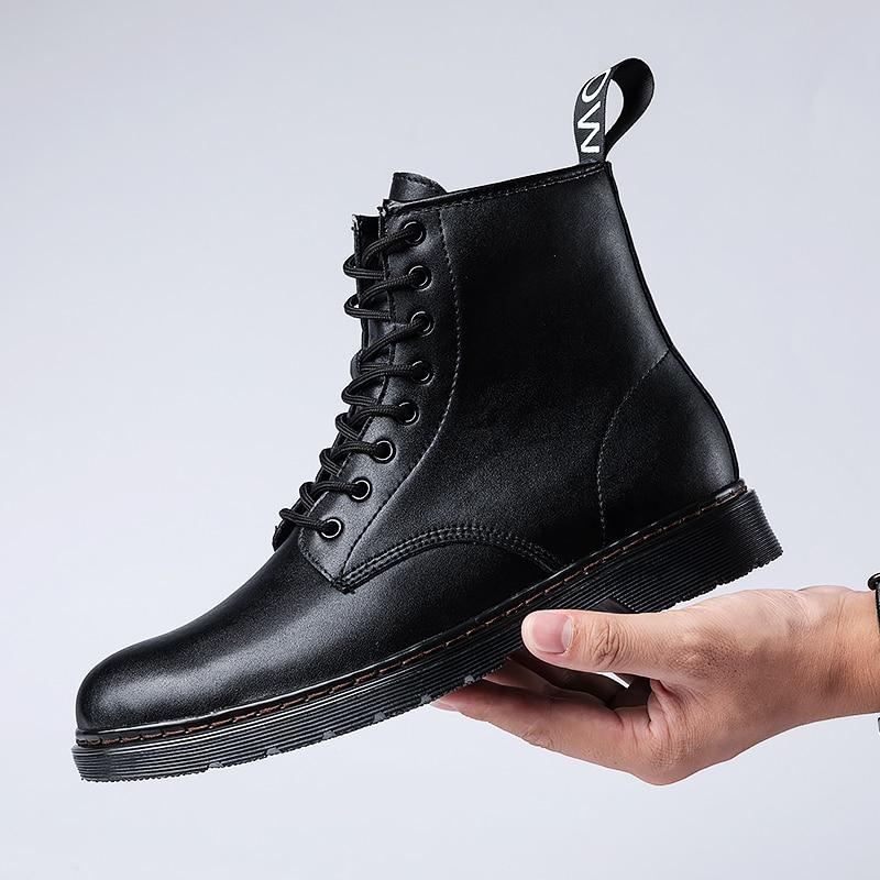 €38.26 39% de DESCUENTO|Botas botines para hombre zapatos de moda Chelsea zapatos para hombre con piel cálida Otoño Invierno zapatos para hombre