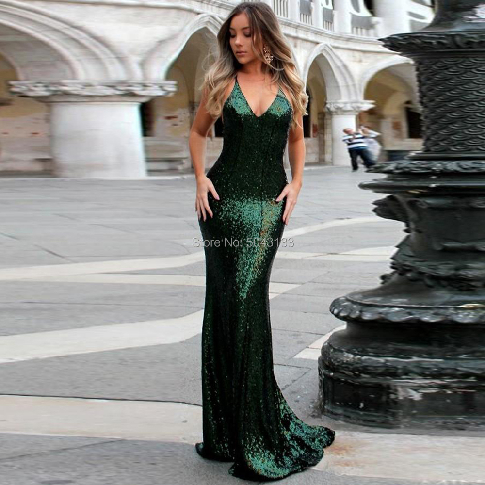 Halter Sequin Mermaid   Prom     Dresses   2019 Sexy V Neck Off The Shoulder Bridesmaid   Prom   Gowns Sleeveless Backless Party   Dress