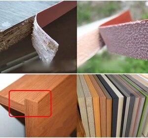 Image 2 - 10M Self adhesive Möbel Holz Furnier Dekorative Rand Banding PVC für Möbel Schrank Büro Tisch Holz Oberfläche Kanten