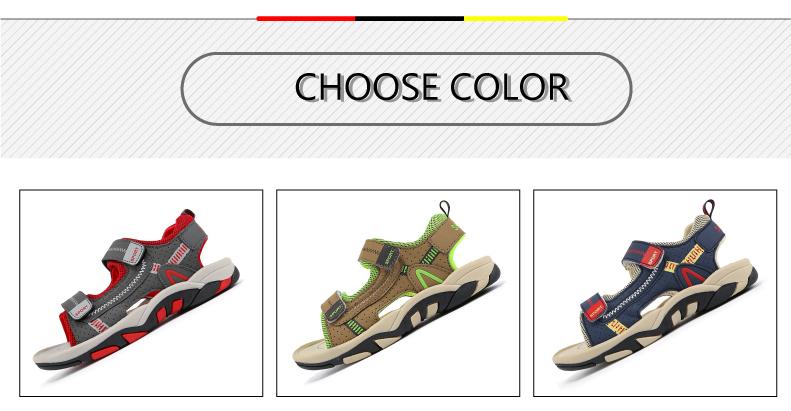 2020 Summer Boys Sandals Kid Sandals Children Shoes Cut-outs Rubber School Shoes Breathable Open Toe Casual Boy Sandal (2)