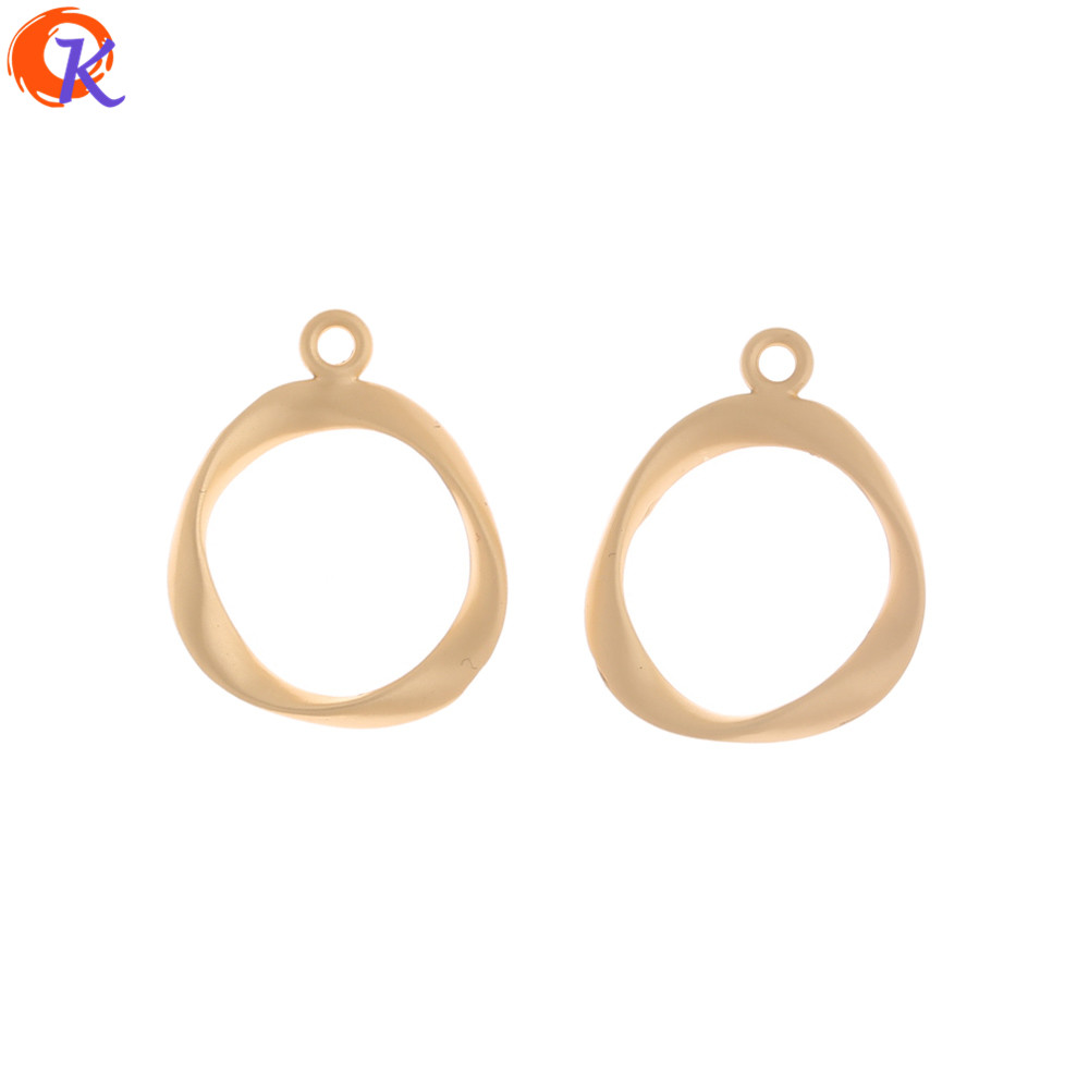 Cordial Design 100Pcs 18*22MM Jewelry Accessories/Earrings Connector/Matte Gold/Hand Made/Loop Shape/DIY Making/Earring Findings
