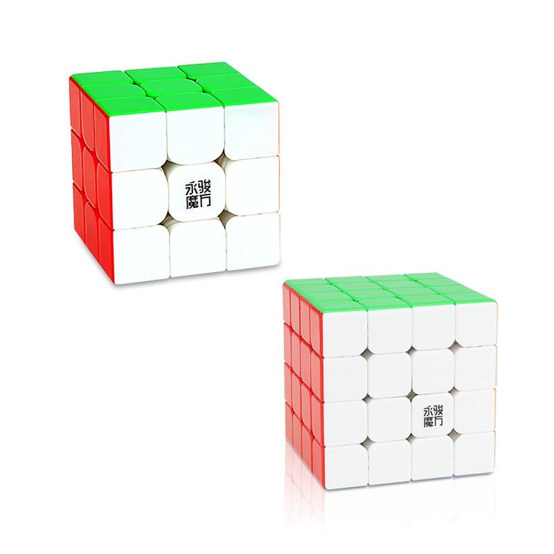 Original YJ Zhilong Mini 3x3 M 4x4 M 5x5 M Magnetic Speed Cubes Small Size YongJun Zhilong Magico Cube Puzzle Toys Magnetic Cube 14