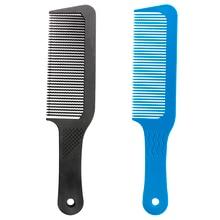 Pro 1 Uds de carbón antiestático 3D peine de peluquería peine Anti deslizante mango Barbero corte de pelo peine para uso profesional