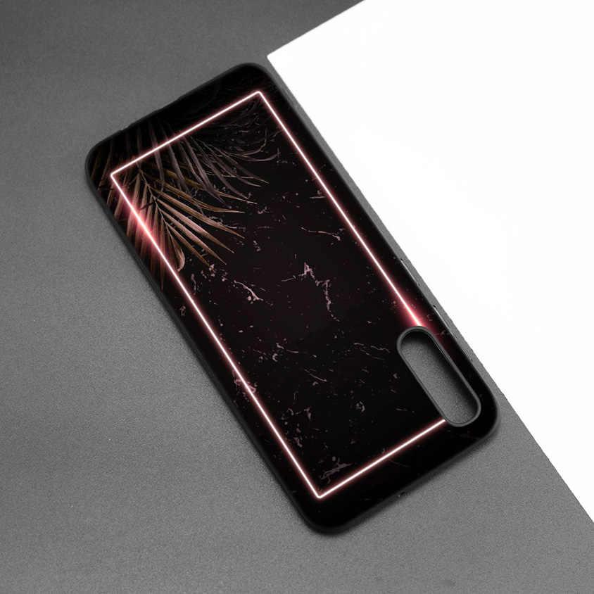 Czarny silikonowy skrzynki pokrywa dla Samsung Galaxy M10 M20 M30 S8 S9 S10 S10e 5G J8 10 5G uwaga 8 9 10 Plus 2018 S7 krawędzi ananas marv