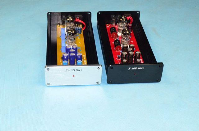 X 10D 2.0 original circuit HiFi 6N11 tube buffer audio signal tube preamplifier With AC12V power adapter