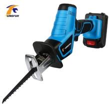 цена на 21V Lithium Battery Reciprocating Saw Electric Jig Saw 12V Cordless Saber Saw Wood/Metal Cutting With LED Light Cutting Tool